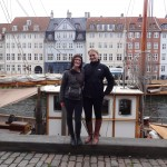Me and Sara in front of a picturesque canal